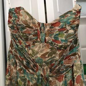 Nanette lepore multi colored strapless maxi dress